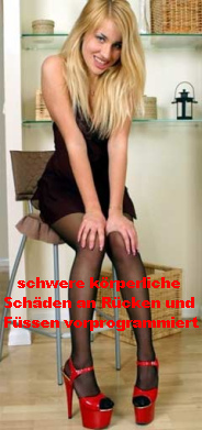 Reife Damen Beine High Heels