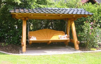 Spielplatz elemente 2 3 schaukeln for Balancines de madera para jardin